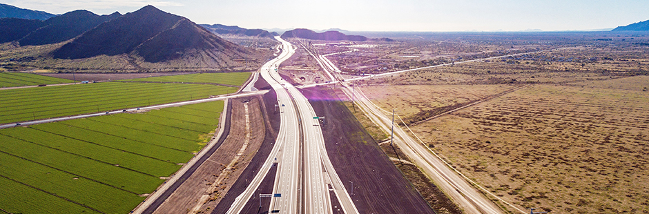 Overview of bridge on Loop 202 South Mountain Freeway>From Media Library