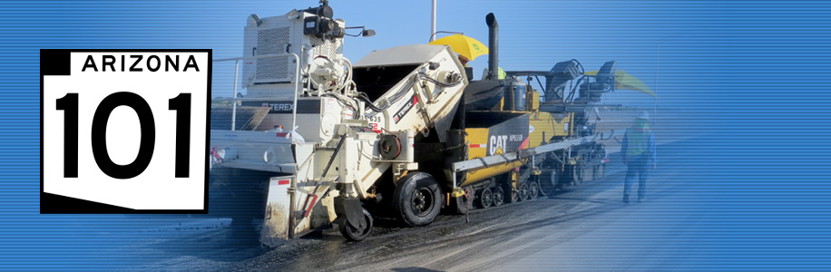 Truck working on Loop 101 Price Freeway