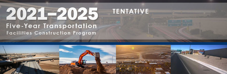 Photo of the 2021-2025 Five-Year Transportation Facilities Construction Program brochure cover>From Media Library>From Media Library