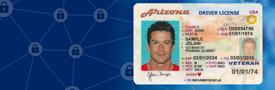 Lock your License banner showing driver license image with locks>From Media Library