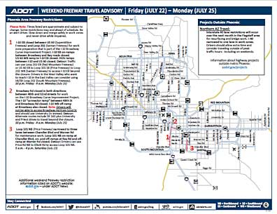 Weekend Freeway Travel Advisory